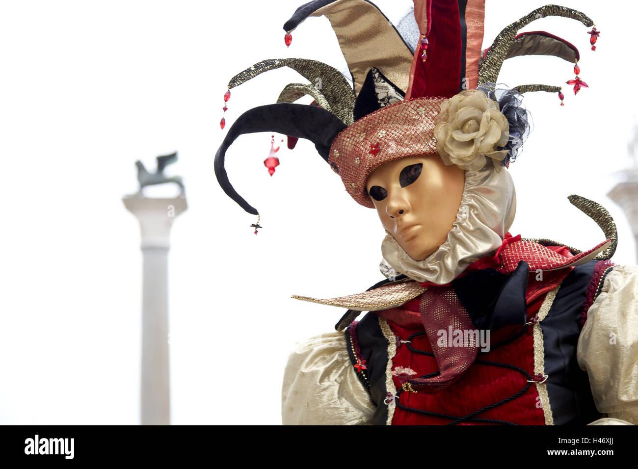 Italien, Venedig, Karneval, Person, Masken, Porträt, gewellt, aussen ...