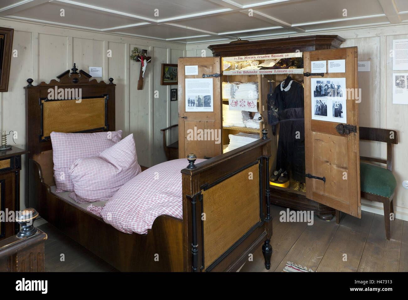 der allg uer berg bauern museum schlaf kammer bett. Black Bedroom Furniture Sets. Home Design Ideas
