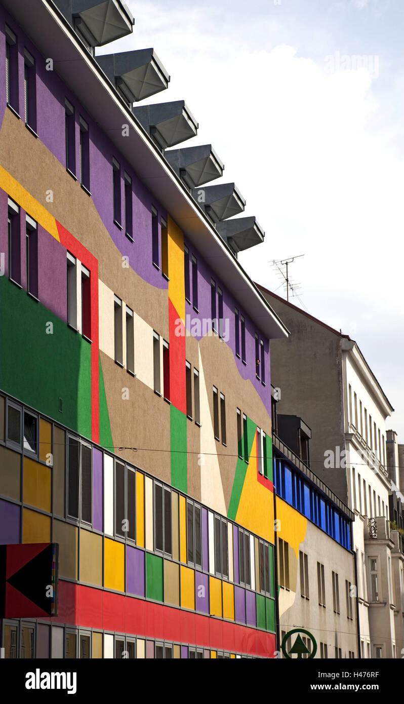 Haus, Malerei, Probe, hell, Design, Gebäude, Architektur, außen ...