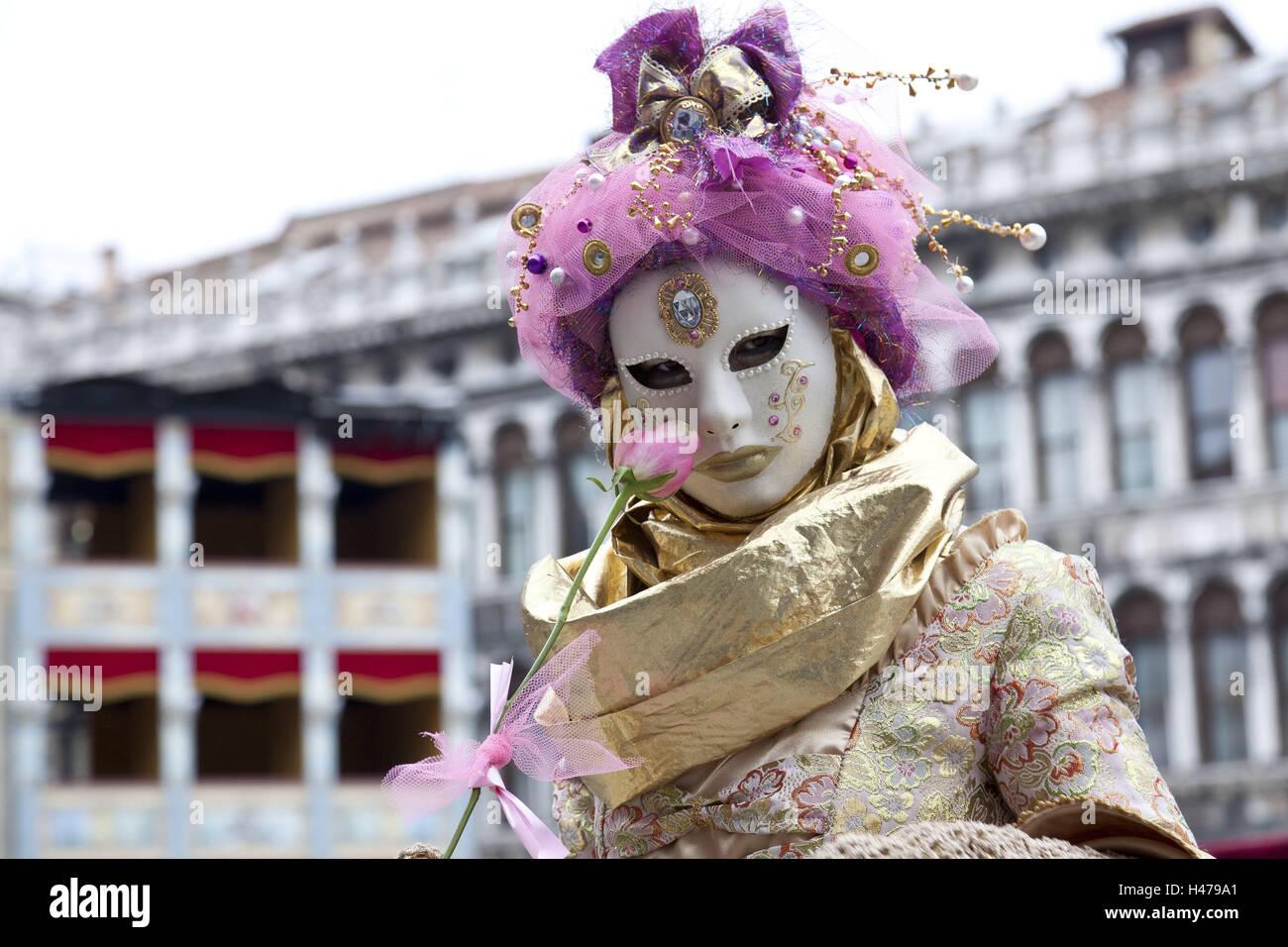 Italien, Venedig, Karneval, Person, Masken, Porträt, aussen ...
