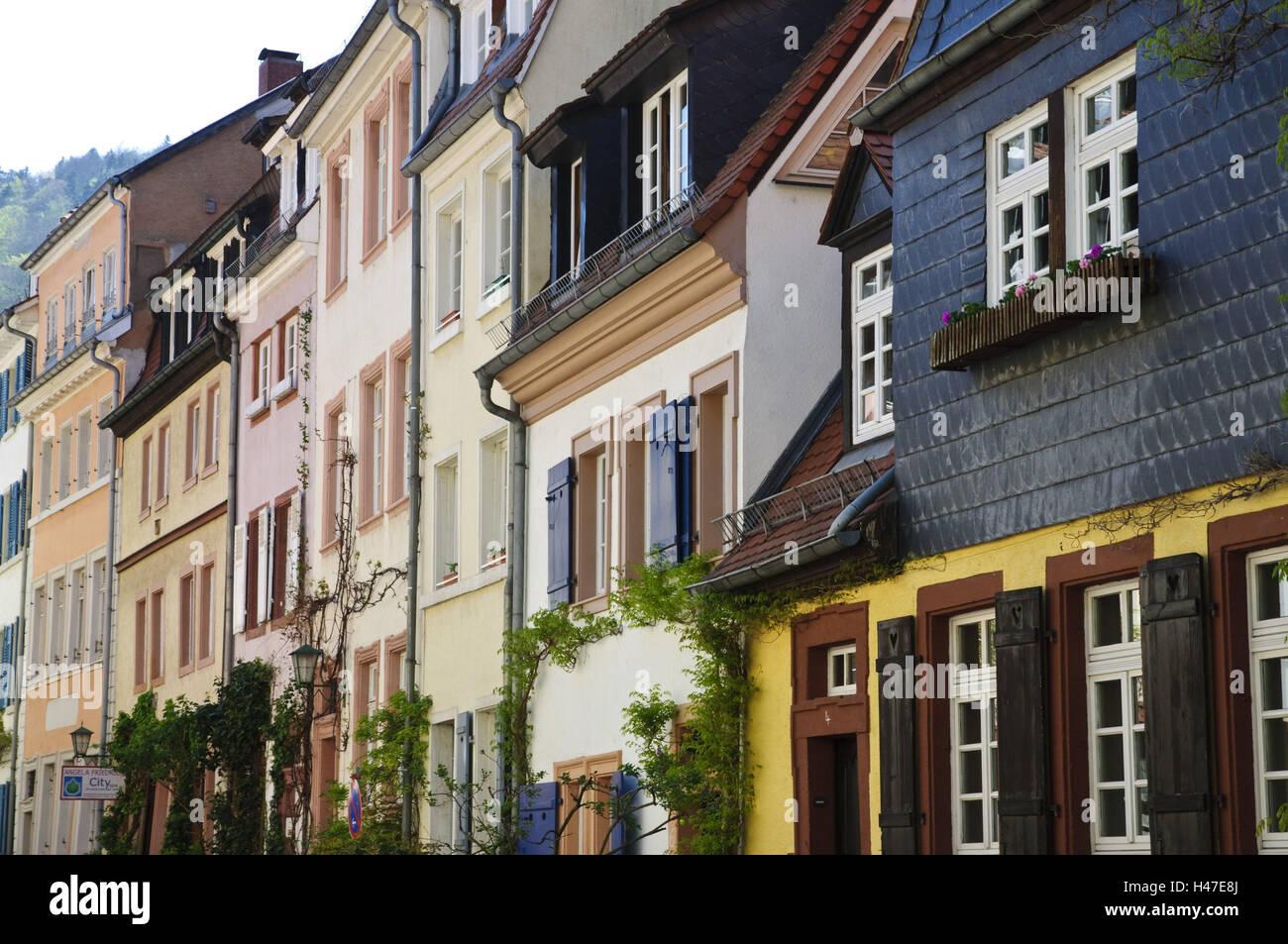 Heidelberg, Altstadt, große Gehäuse Lane, Baden-Wurttemberg, Deutschland, Stockbild