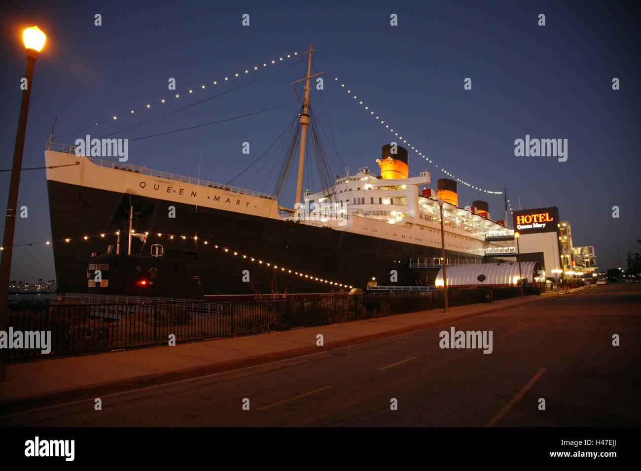 Usa California Los Angeles Long Beach Queen Mary Hotelschiff