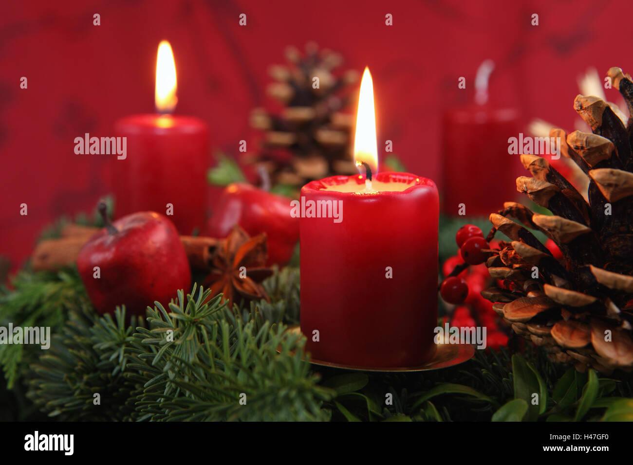 Adventskranz 2 Kerzen