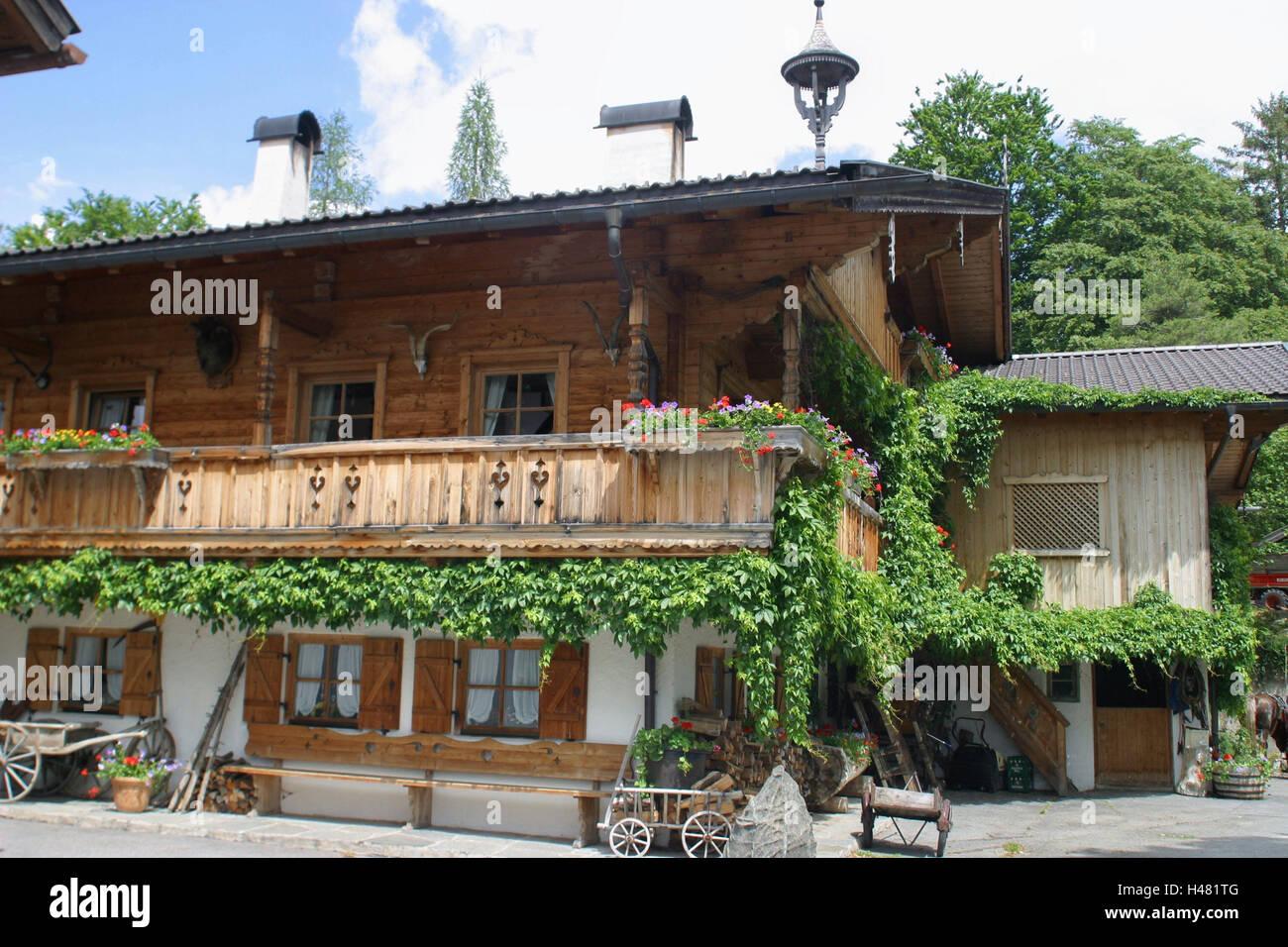 Deutschland Oberbayern Mittenwald Bauernhof Bayern