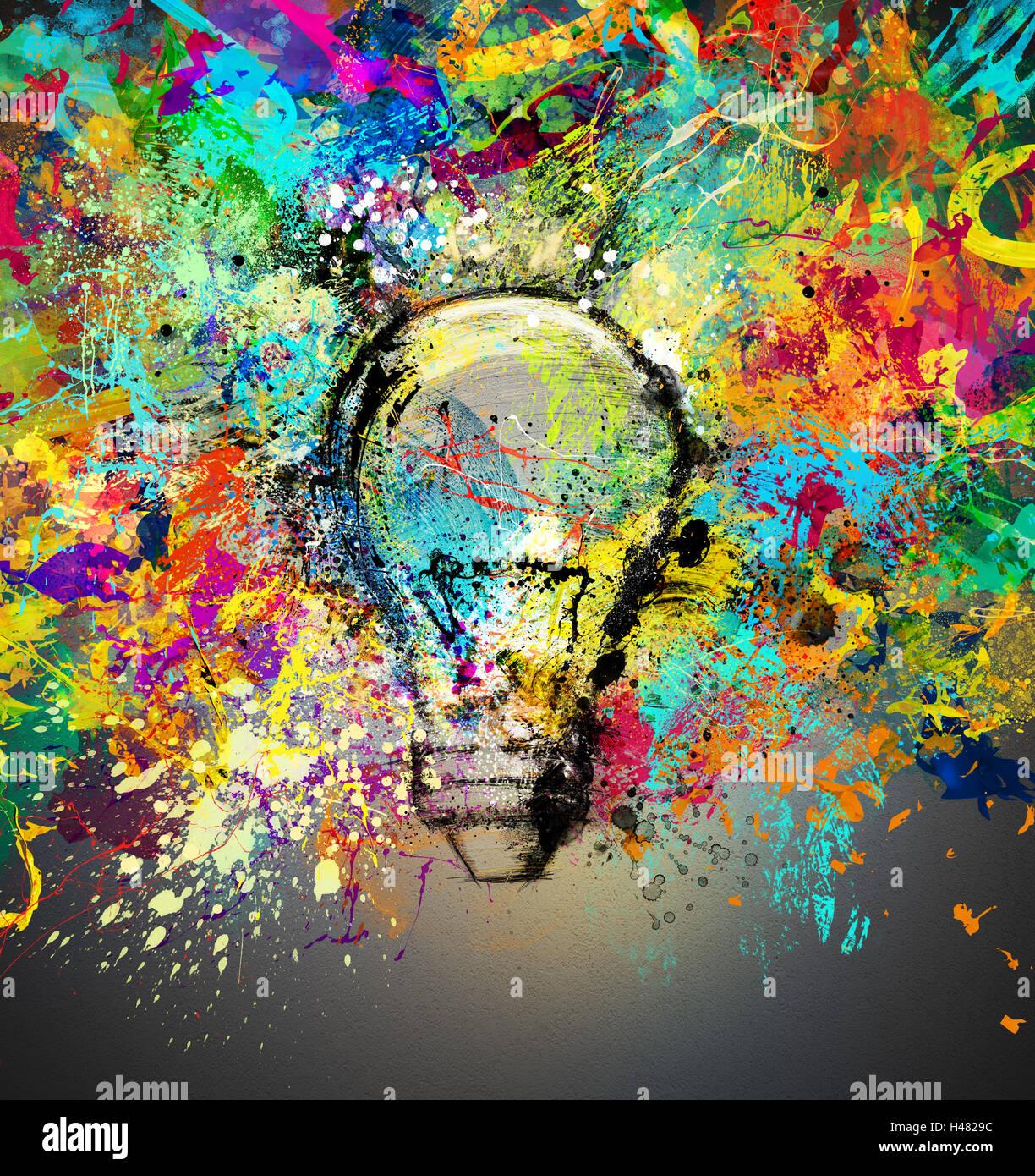 Kreative und bunte Idee Stockbild