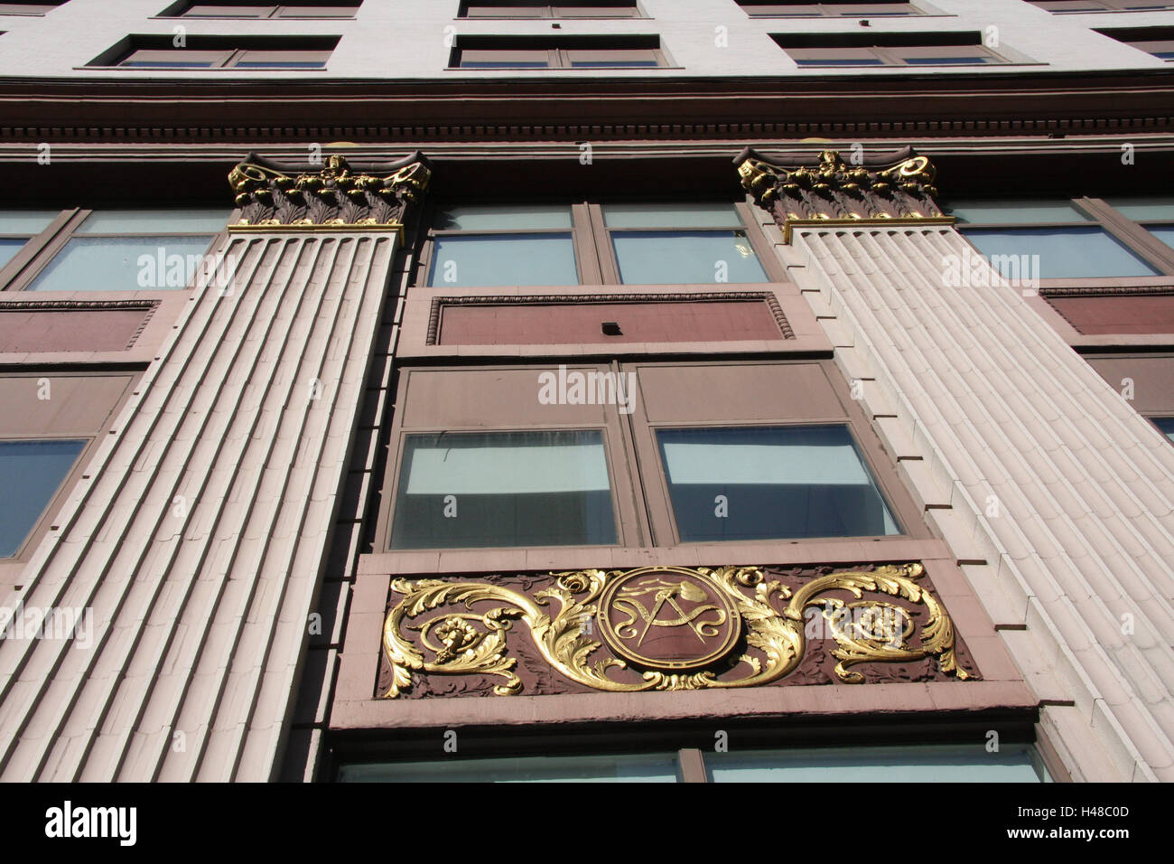 USA, New York City, Manhattan, 7Th Avenue, Art Deco Haus, Fassade, Detail,  Perspektive, Nordamerika, Stadt, Ort Von Interesse, Reiseziel, Architektur,  Haus, ...