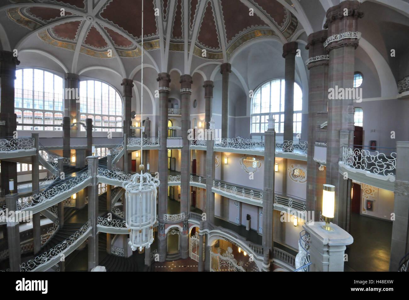 Deutschland, Berlin, Gerichtsgebäude, innen, Fußböden ...