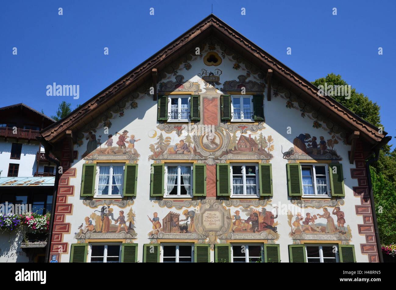 Deutschland Oberbayern Ammer Valley Oberammergau Hansel Und