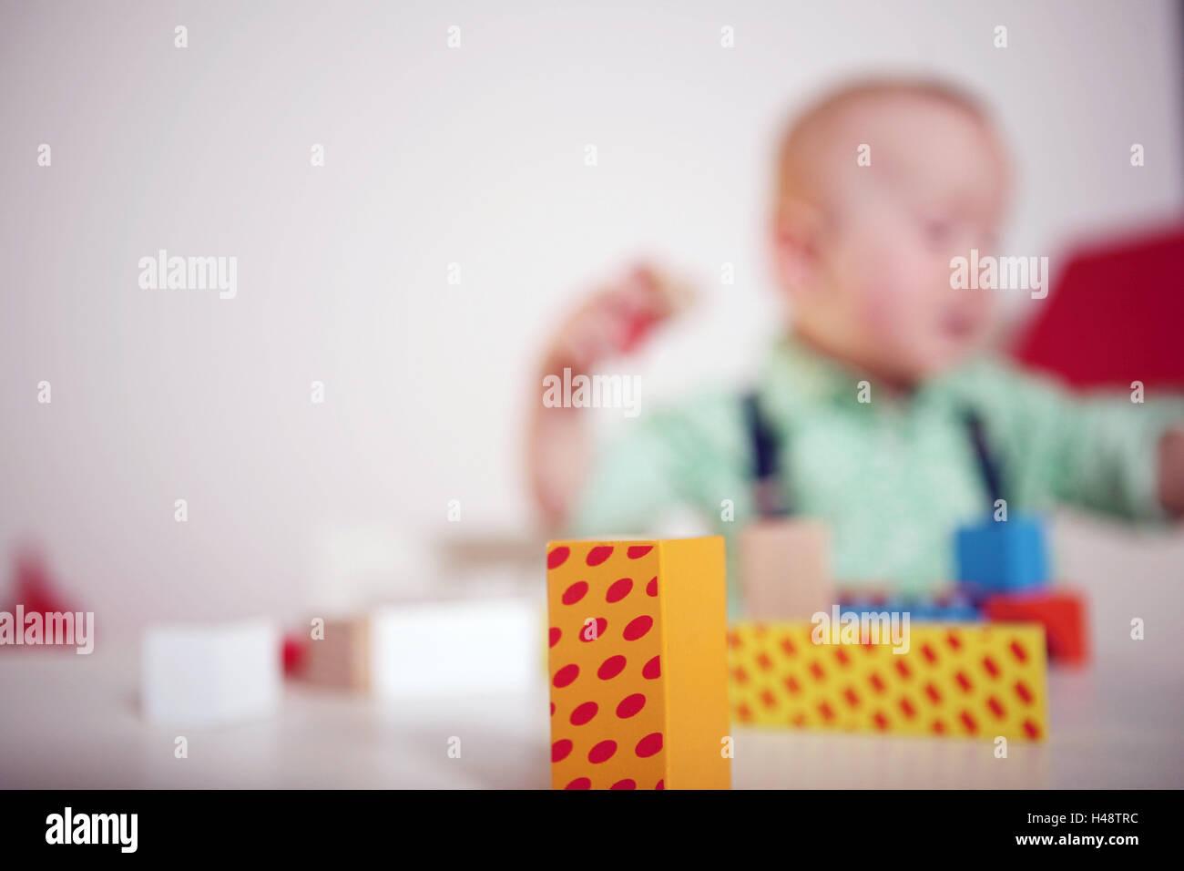 Fachwerk Bau Steinen Hintergrund Kind Junge Spielen Unscharfe