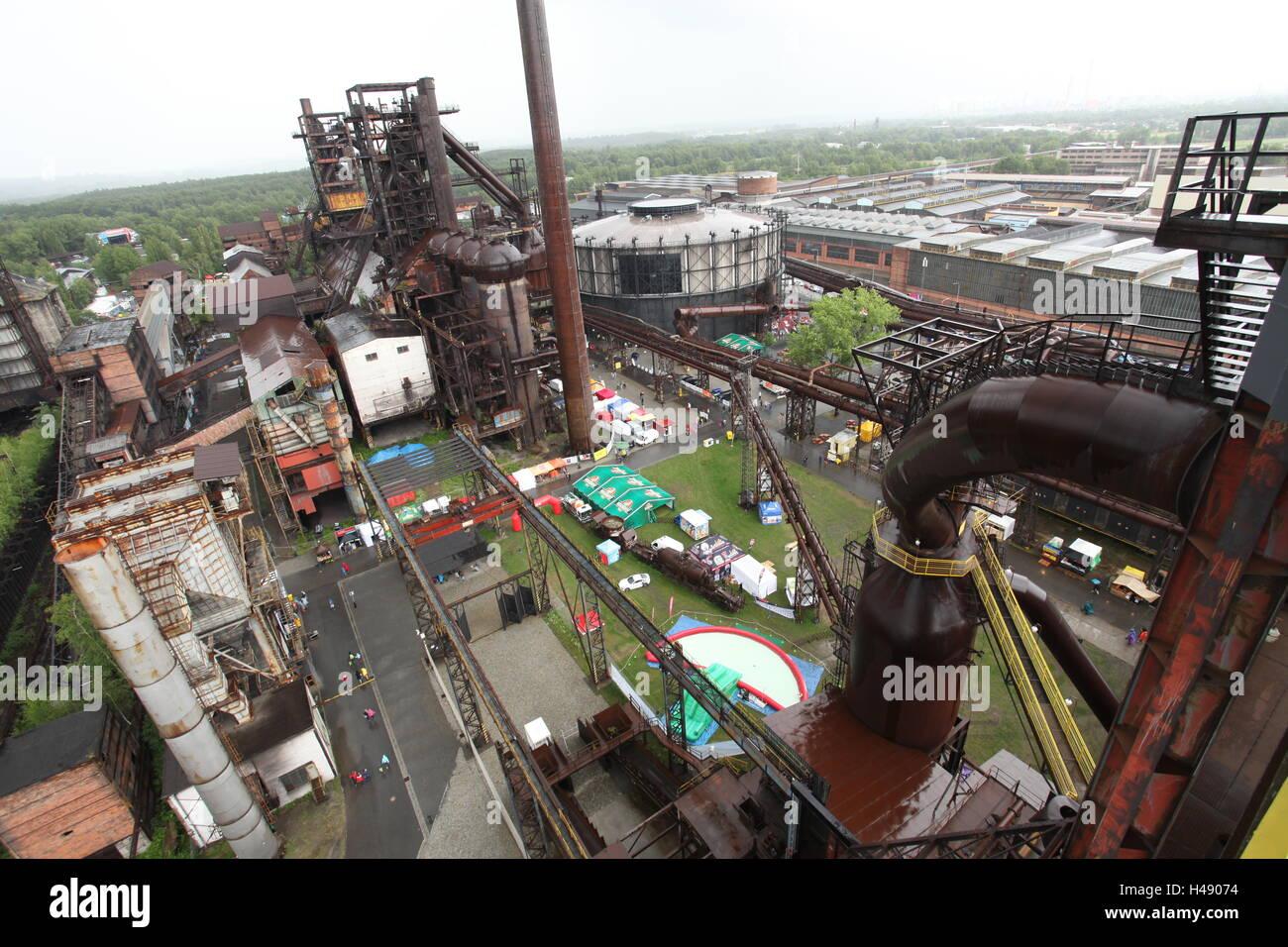 Ehemalige Industriegebiet von Vitkovice Eisenhütte das Musikfestival Colours of Ostrava findet platzieren, Stockbild