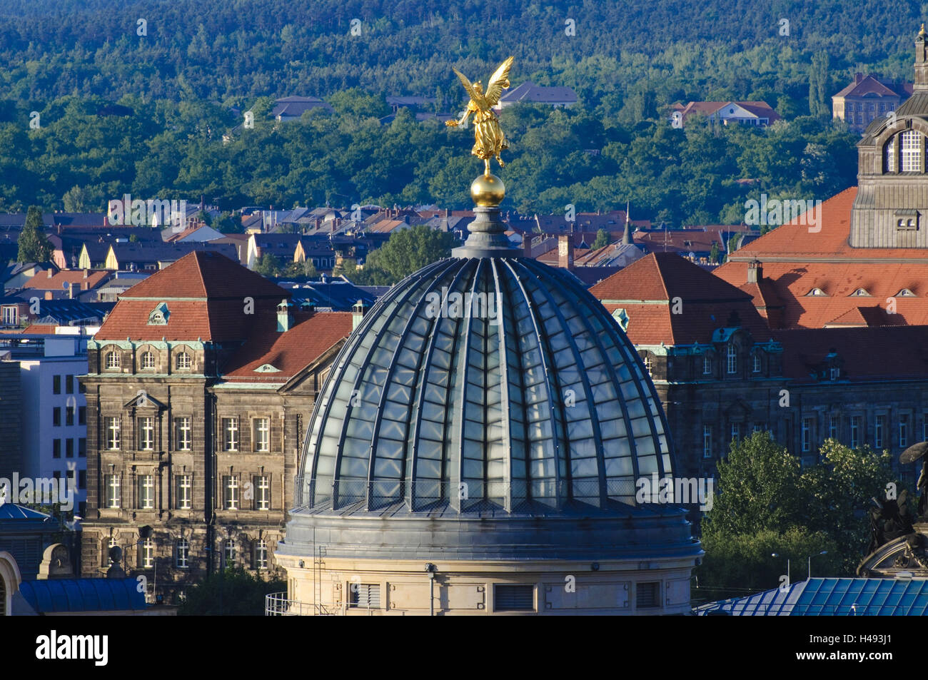 Kuppel der Hochschule für bildende Künste Dresden, Sachsen, Deutschland Stockbild
