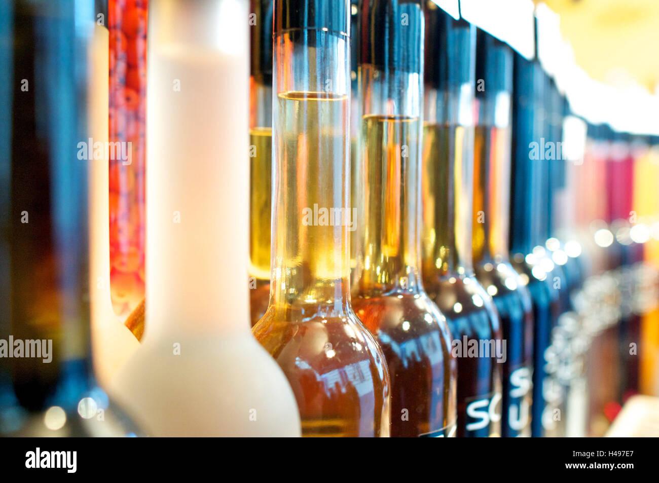 Schnaps-Flaschen, blur, Fläschchen, Schnaps, Detailansicht, bitter, Fötus Schnaps, Liköre, Stockbild