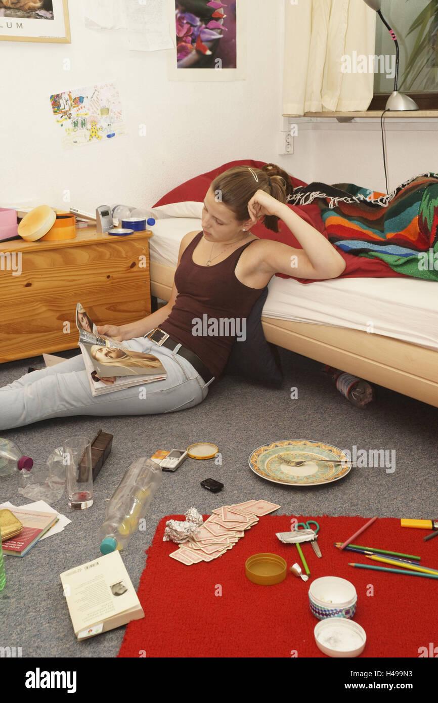 Beeindruckend Jugendliche Zimmer Ideen Von Mädchen, Zimmer, Sit, Langeweile,