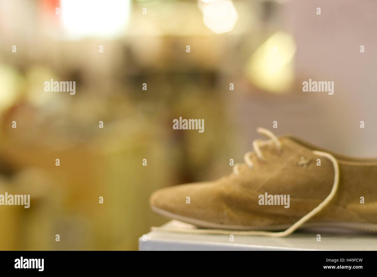 Wildleder Schuh, Unschärfe, Venedig, Italien Stockbild