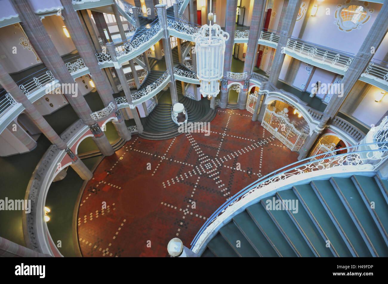 Fußboden Jugendstil ~ Deutschland berlin gerichtsgebäude innen fußböden