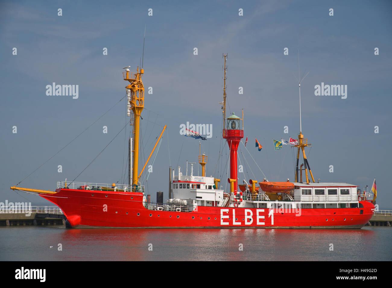 """Deutschland, Niedersachsen, Feuerschiff """"Elbe 1"""" Stockbild"""