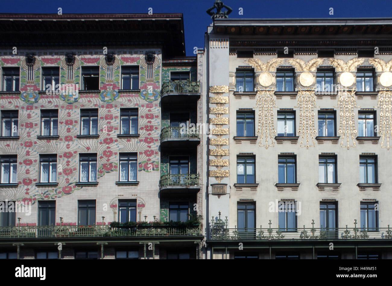 Österreich, Wien, Vienna-Linie links, Haus Nr. 38, Dekoration ...