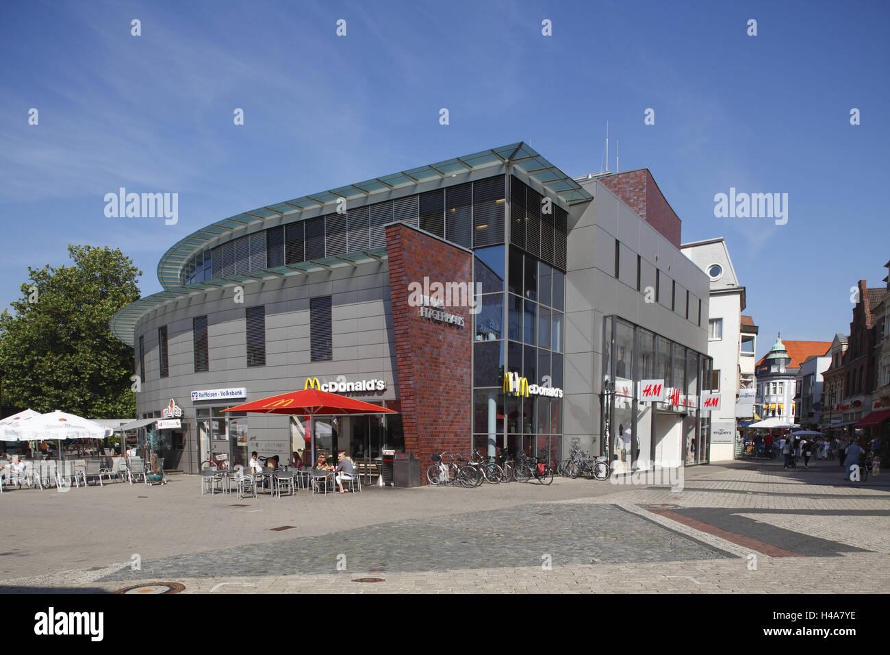 Fussgangerzone Oldenburg Karte.Deutschland Niedersachsen Delmenhorst Rathausplatz Und