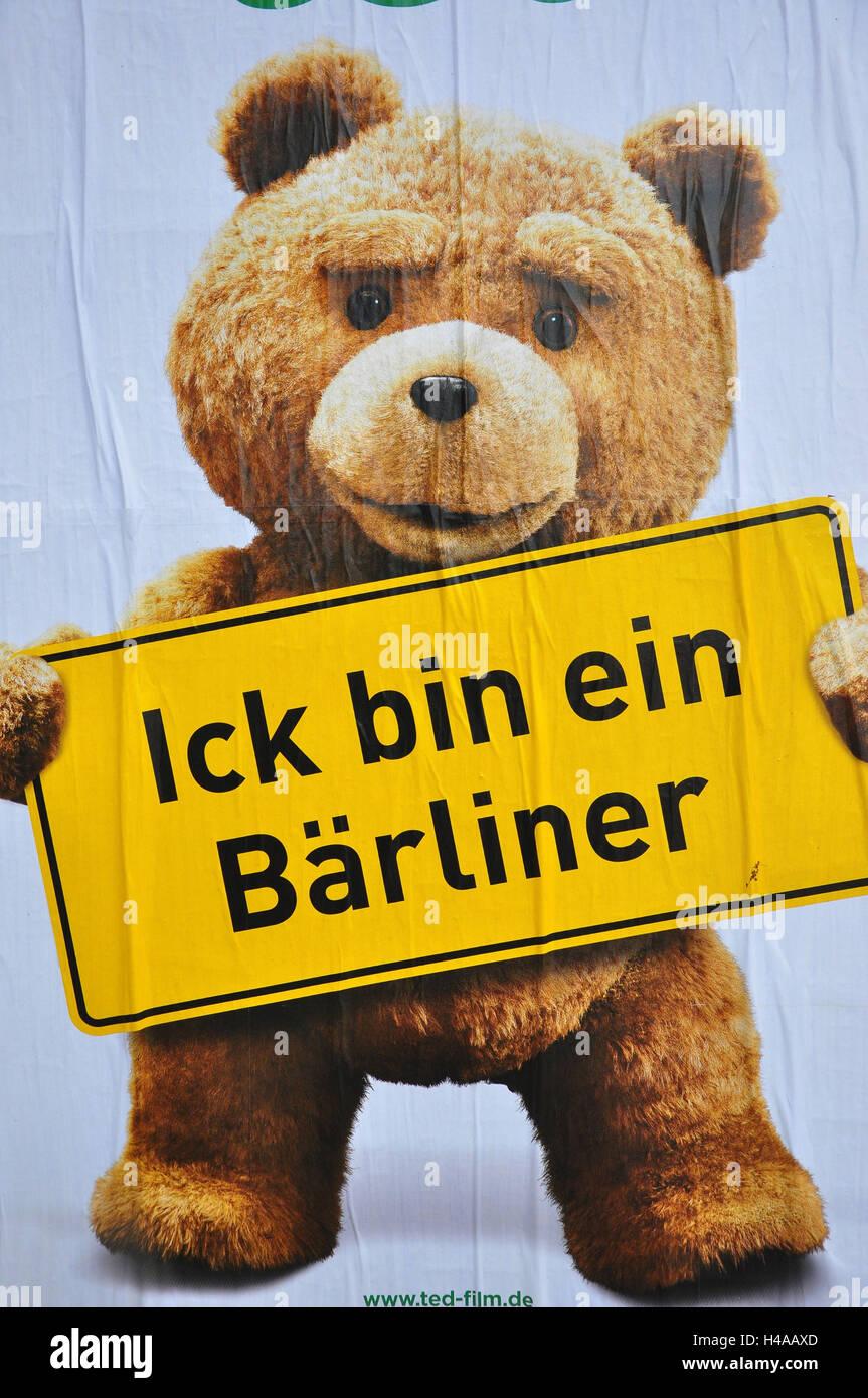 Deutschland Berlin Berliner Bär Poster Stockfoto Bild 123159301
