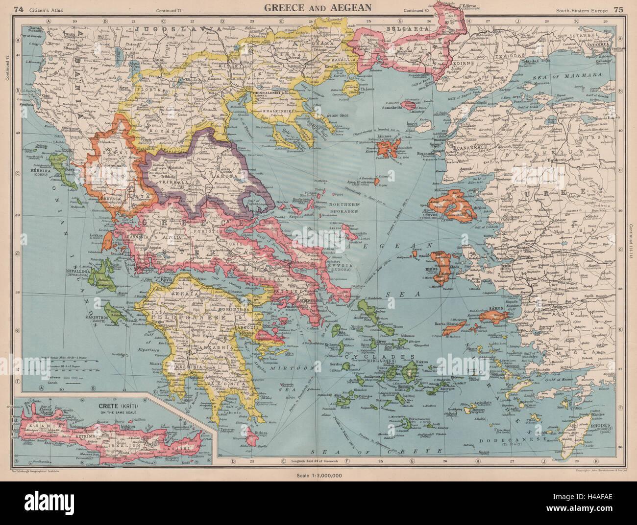 Griechenland Und Agais Kreta Kykladen Sporaden Dodekanes C