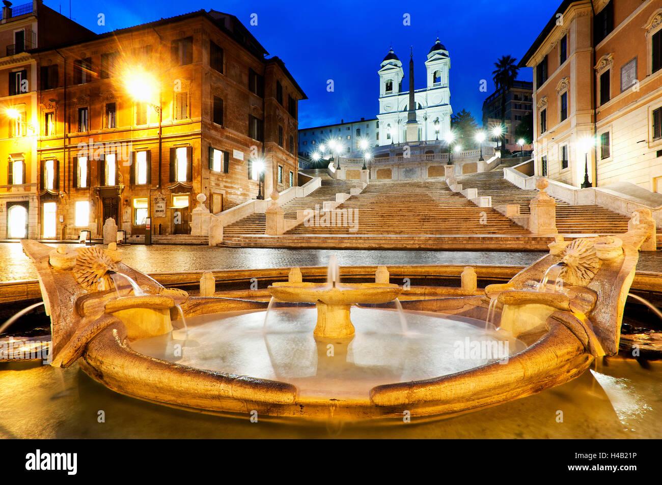 Neu restaurierte Piazza di Spagna, Rom Italien Stockbild