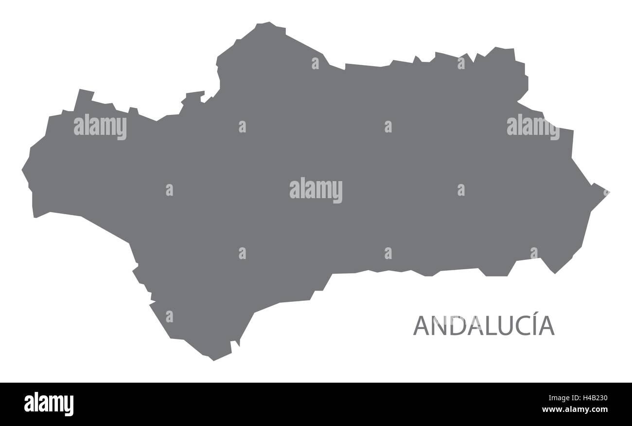 Andalusien Karte Spanien.Andalusien Spanien Karte In Grau Vektor Abbildung Bild 123174324