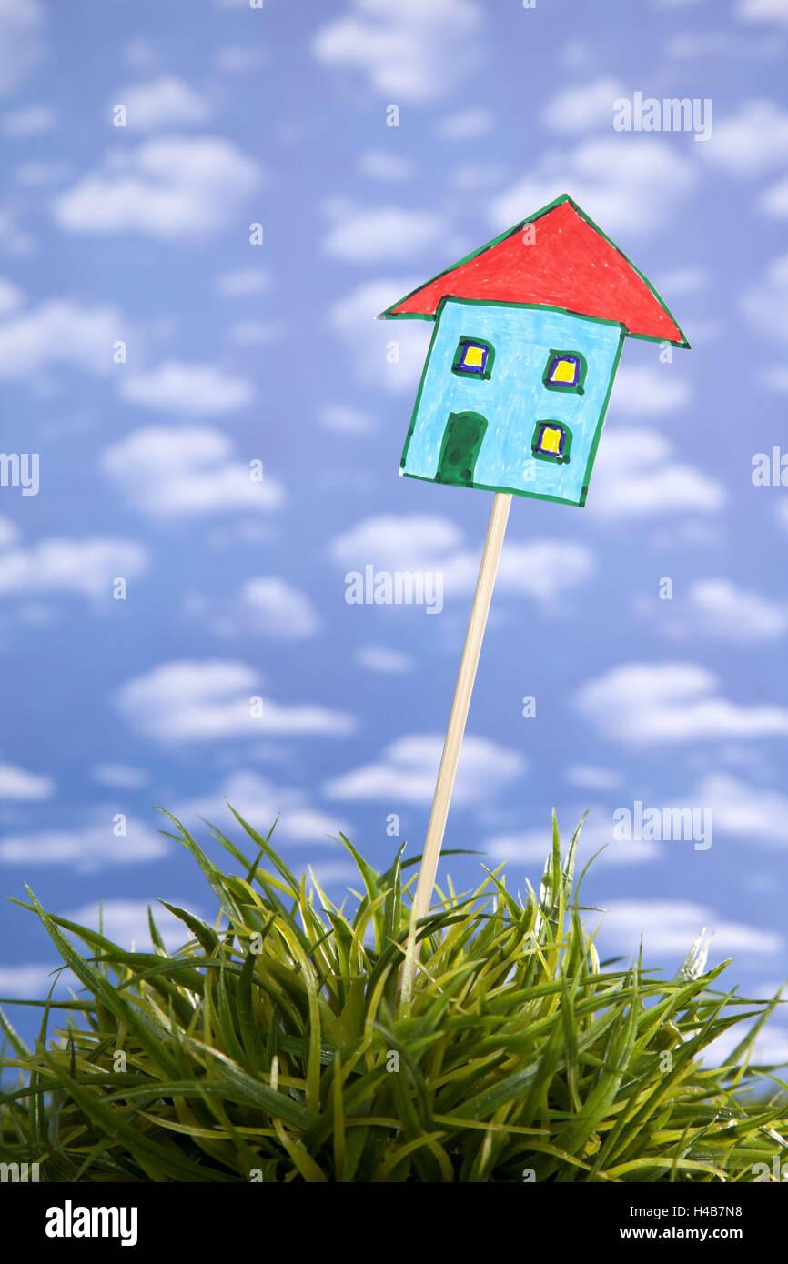 Symbolisches Bild, Wohnungsbau, Immobilien, Planung, Immobilien, Stockbild