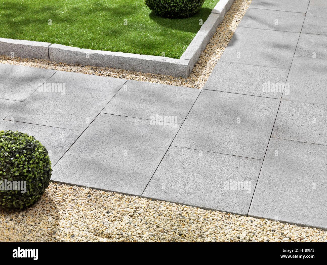 garten gehweg granitplatte f r garten rasenkanten stockfoto bild 123180291 alamy. Black Bedroom Furniture Sets. Home Design Ideas