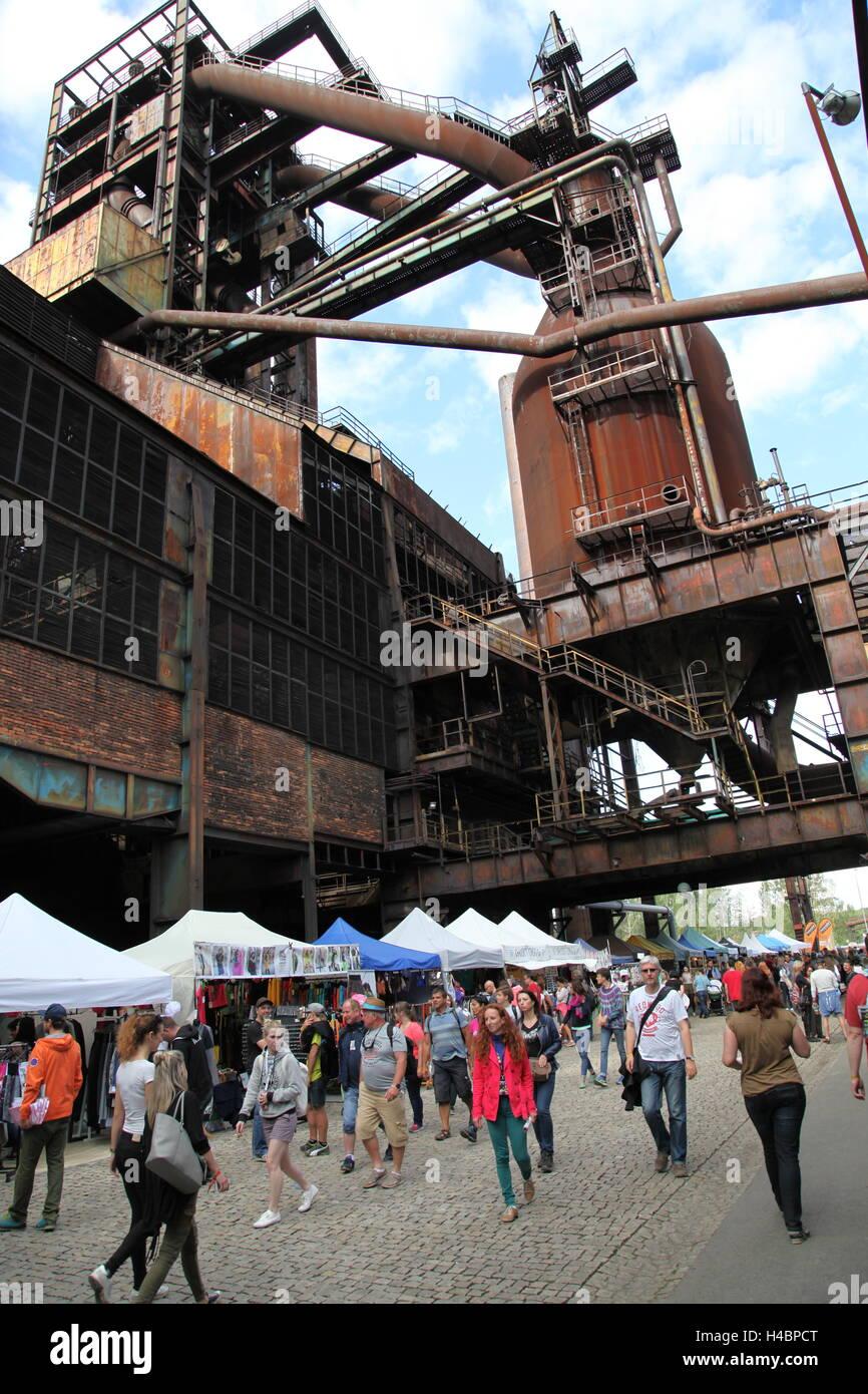 Legen Sie ehemaligen Industriegebiet von Vitkovice Eisenhütte das Musikfestival Colours of Ostrava findet, Stockbild