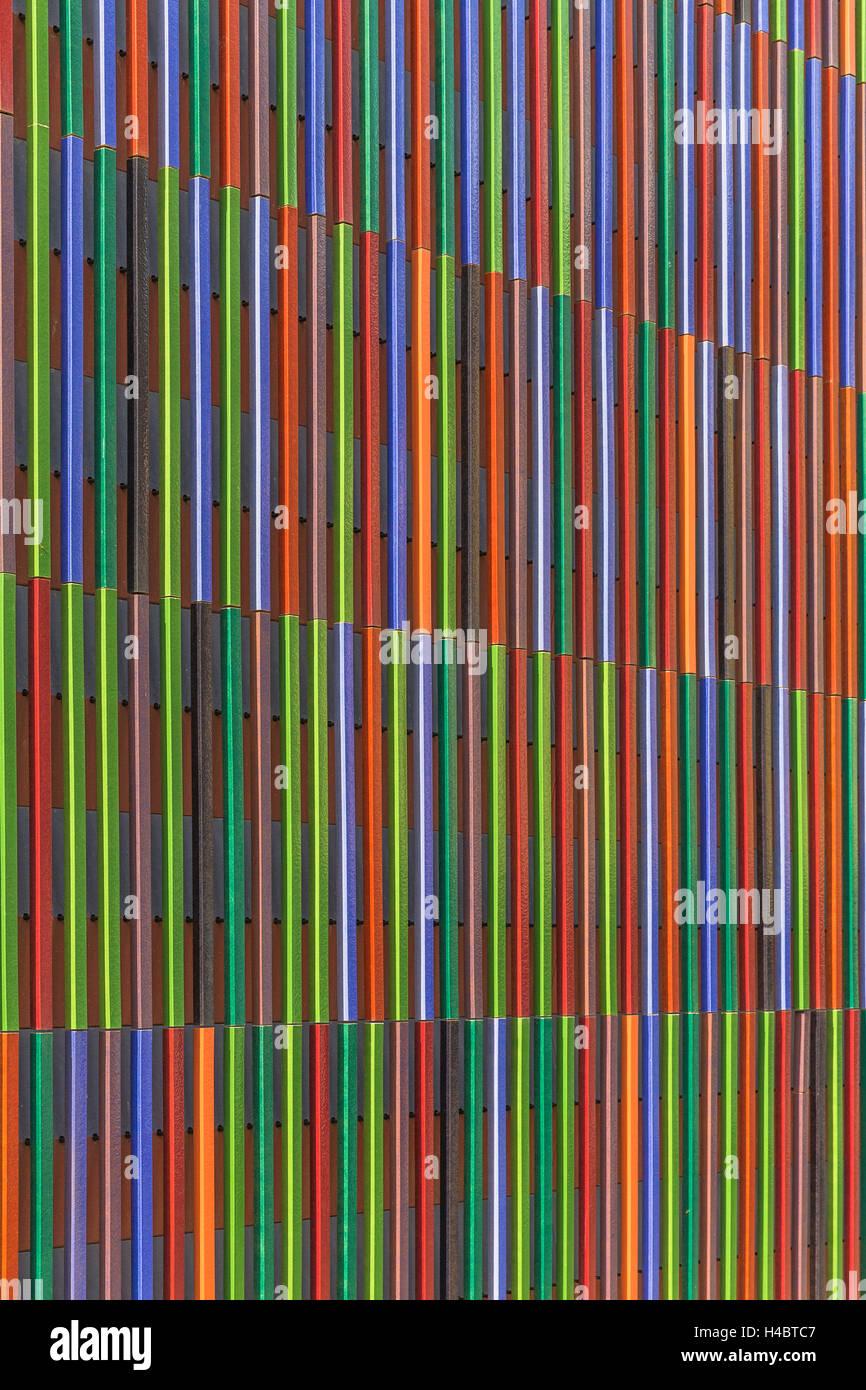 Green Farben München museum brandhorst detaillierte ansicht der fassade im jahr 2009