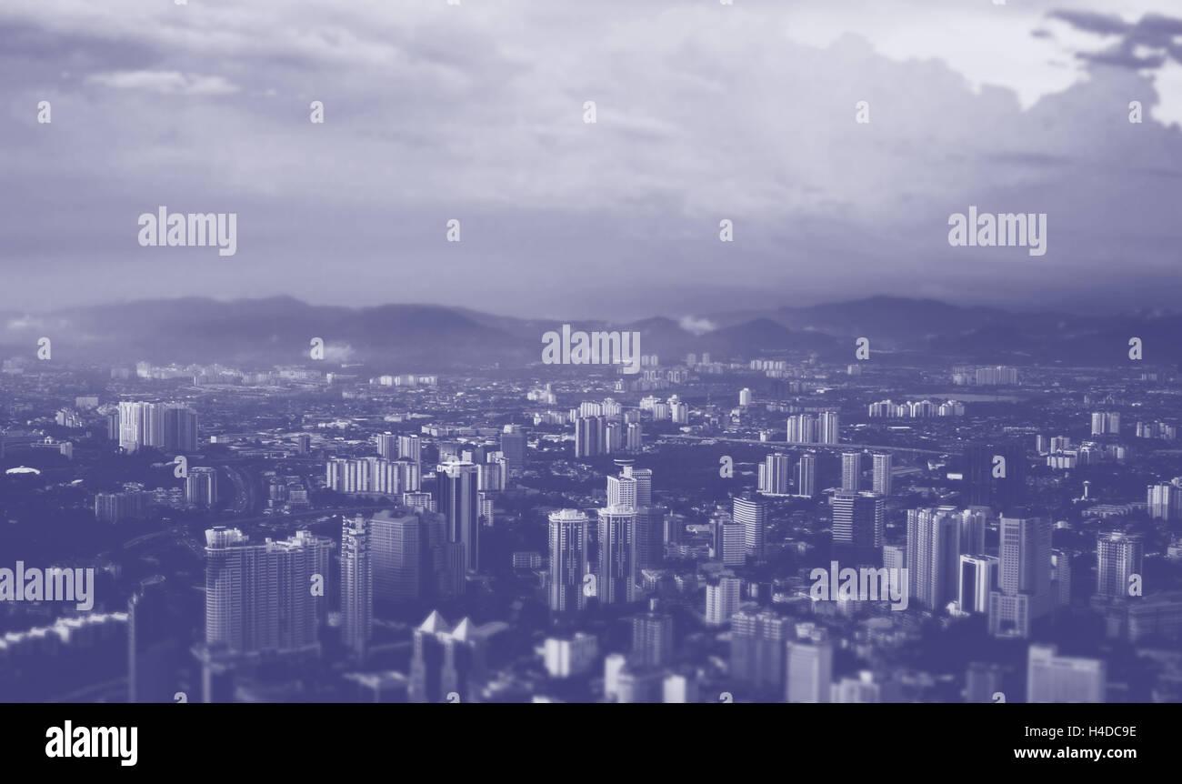 Der vogelperspektive gro stadt business metropole oben blaue t nung stockfoto bild 123226250 - Vogelperspektive englisch ...