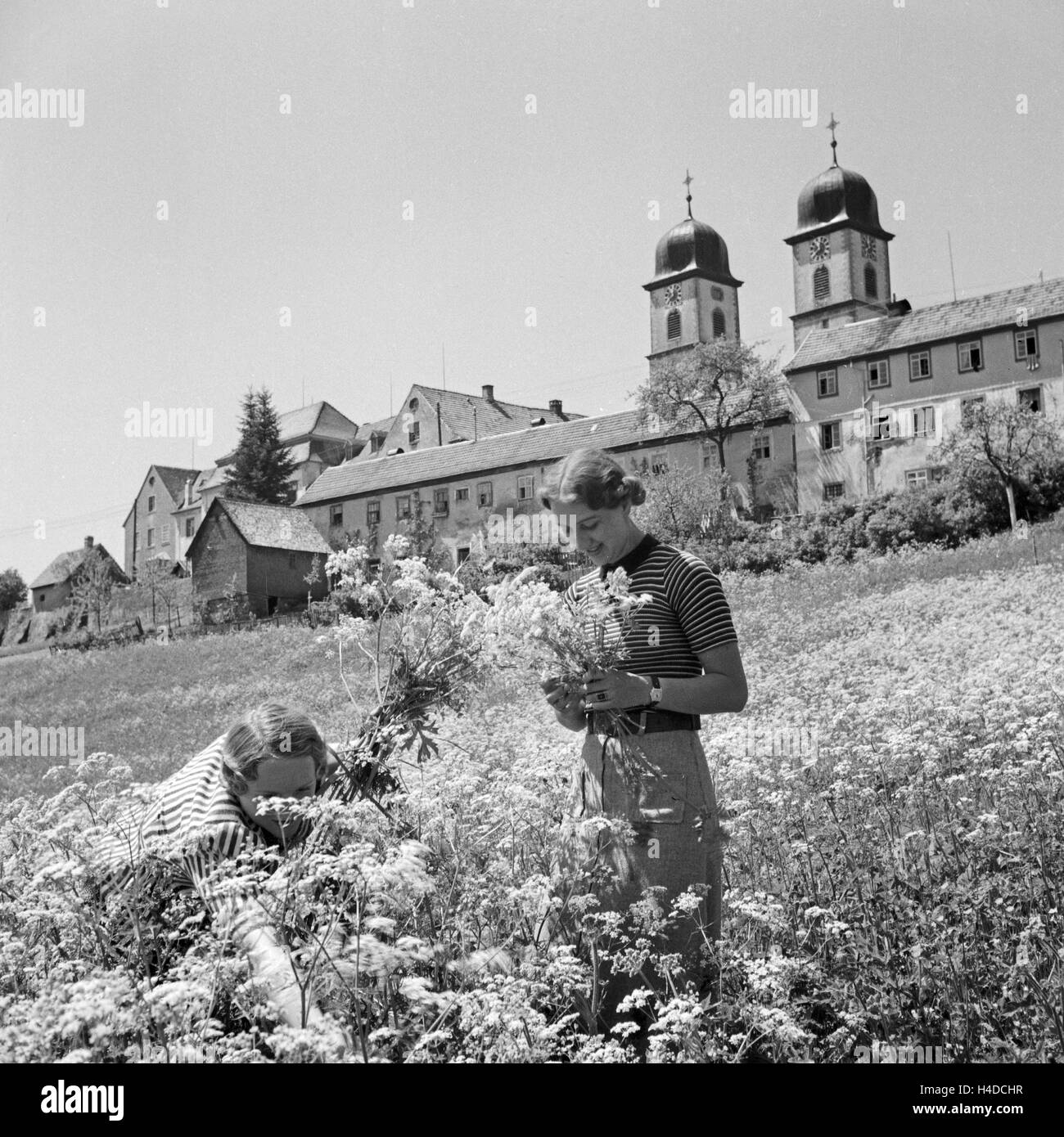 Kirche in St. Märgen Im Schwarzwald, Deutschland, 1930er Jahre. Kirche von St. Maergen im Schwarzwald, Deutschland Stockbild