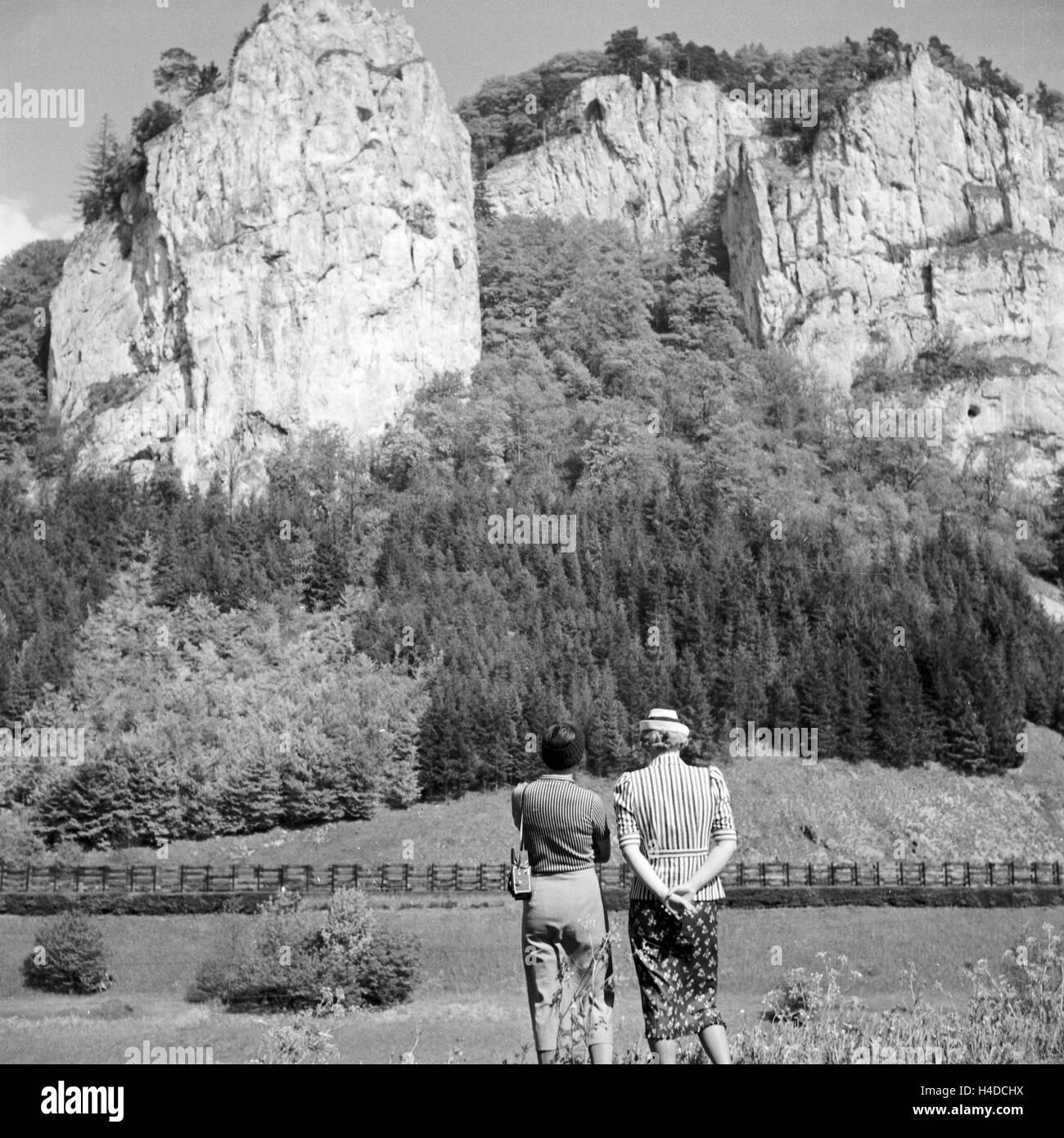 Bei Beuron eine der Oberen Donau, 1930er Jahre Deutschland. In der Nähe von Beuron auf der oberen Donau, Deutschland Stockbild