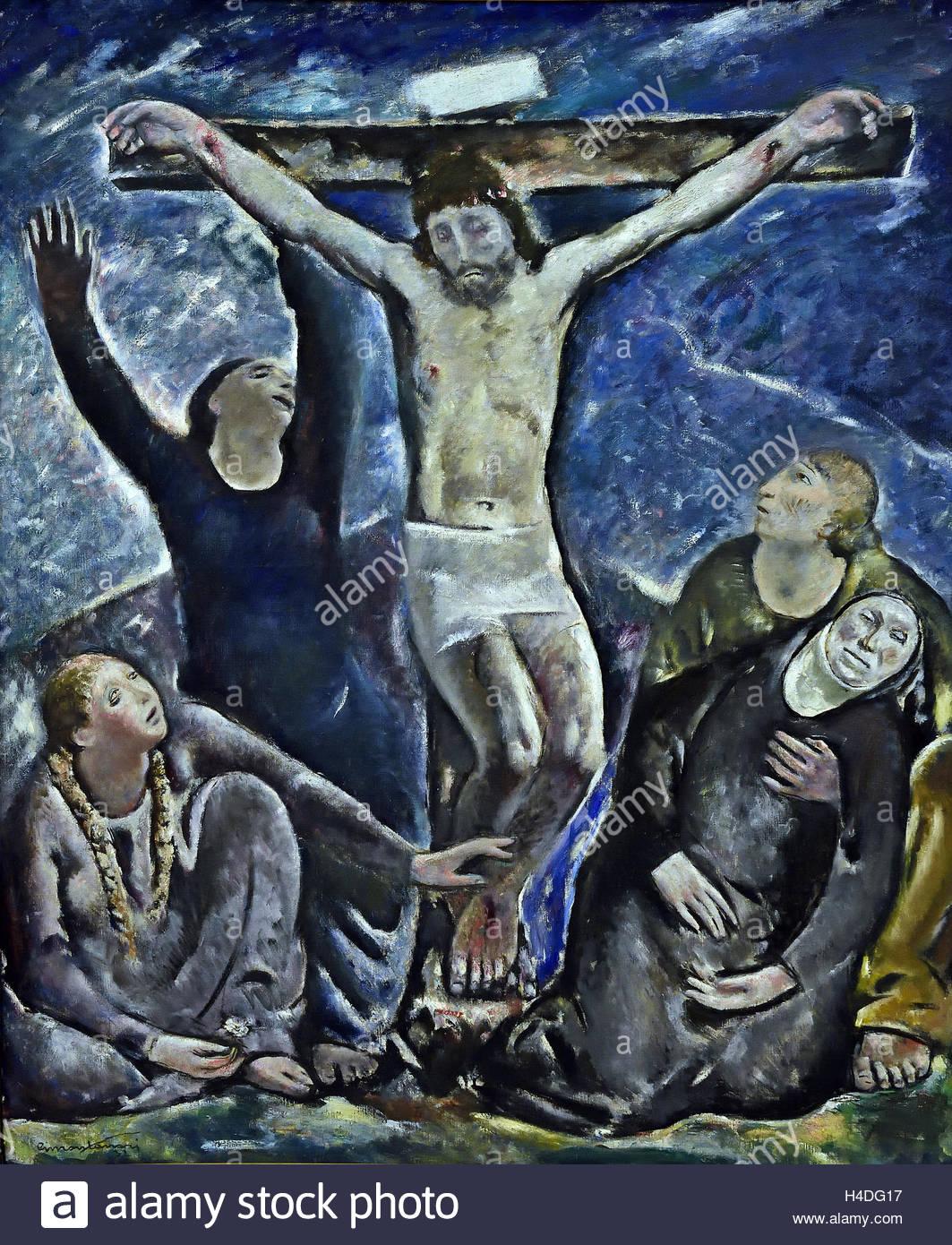 Der tote Christus 1932 Giuseppe Montanari 1889-1970 Italien Italienisch Stockbild
