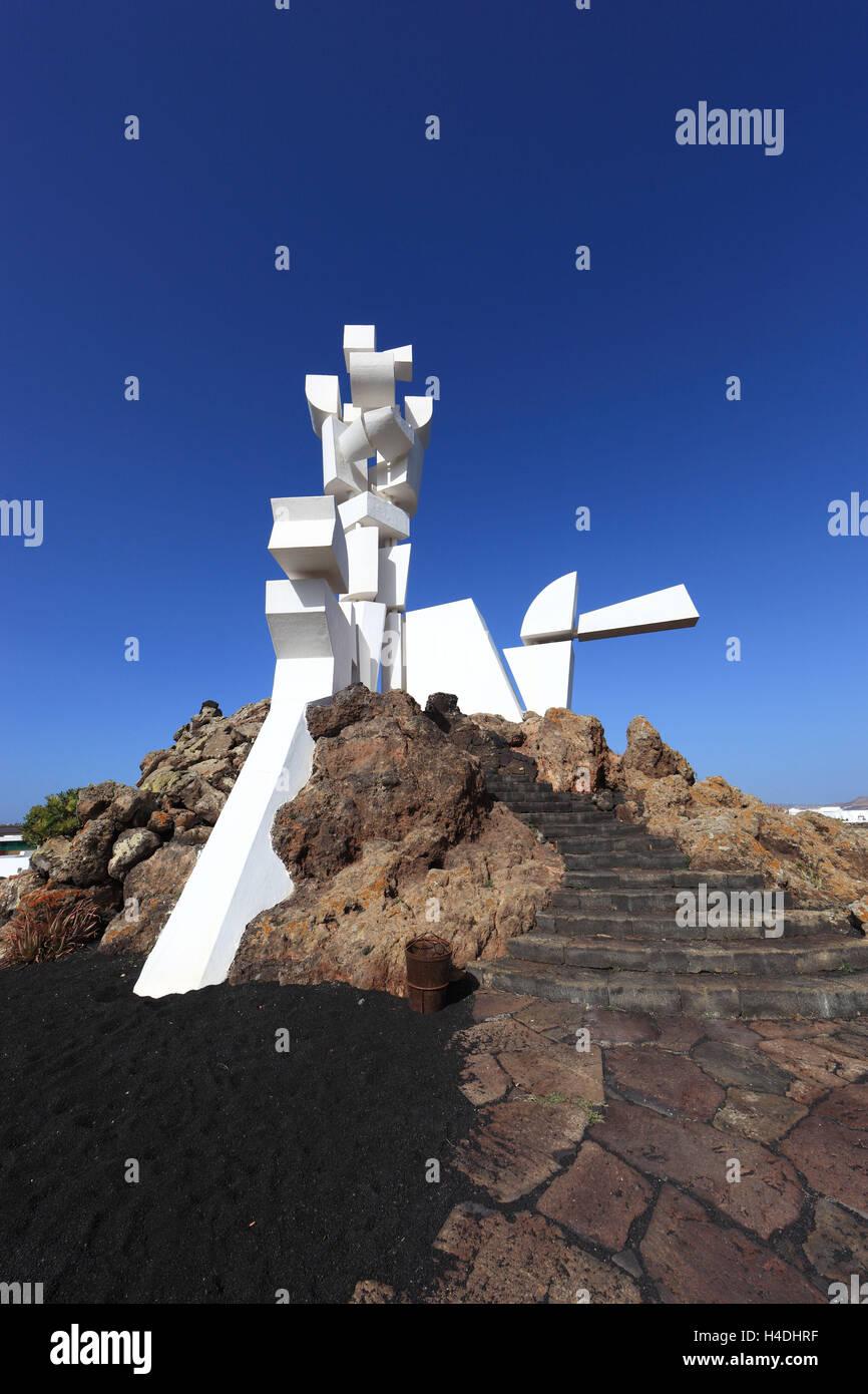 Denkmal für die Fruchtbarkeit symbolisiert der Zusammenhalt der ländlichen Gesellschaft in das Monumento Stockbild