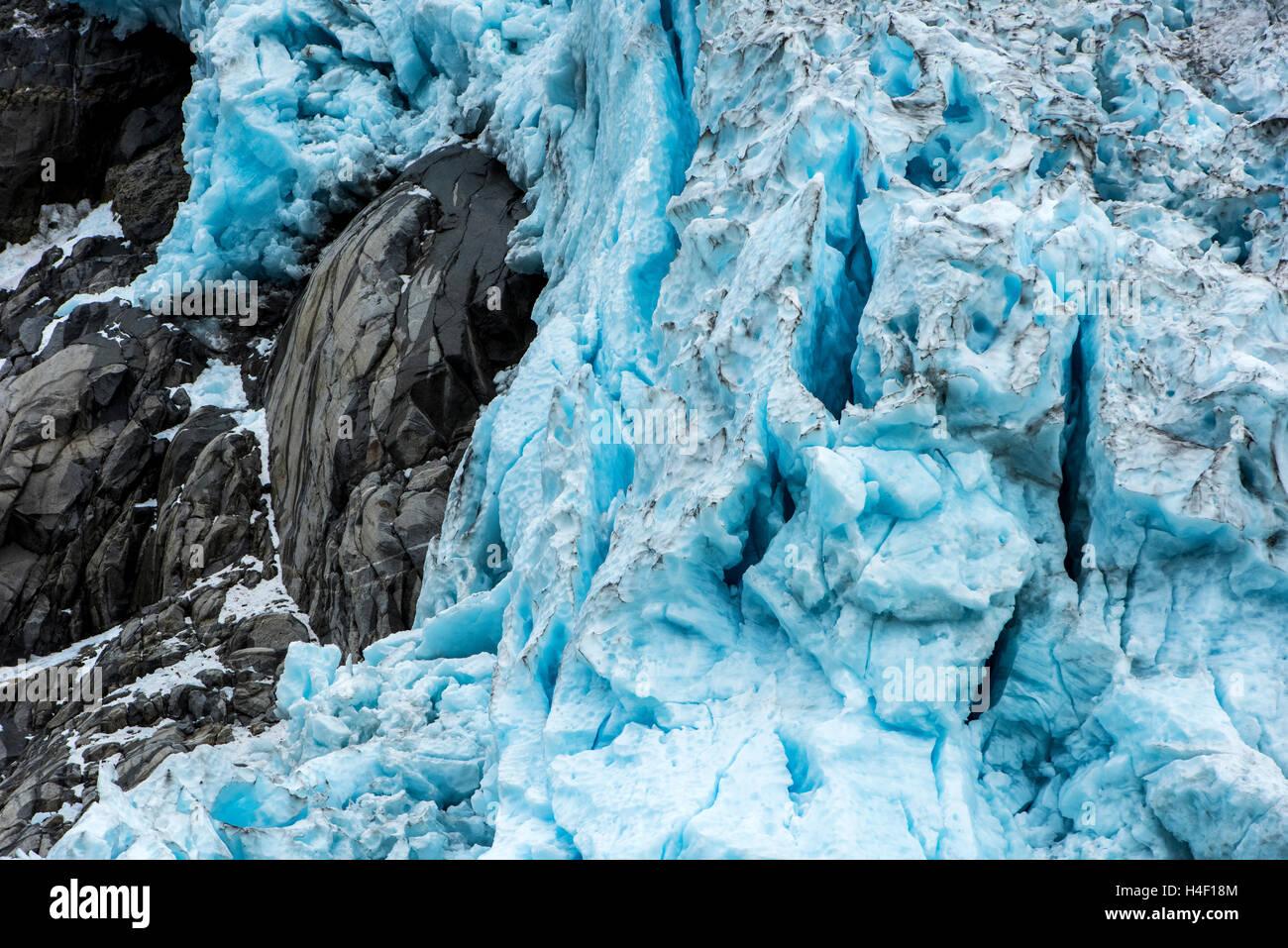 Gletscher-Kenai-Fjords, Alaska Stockbild