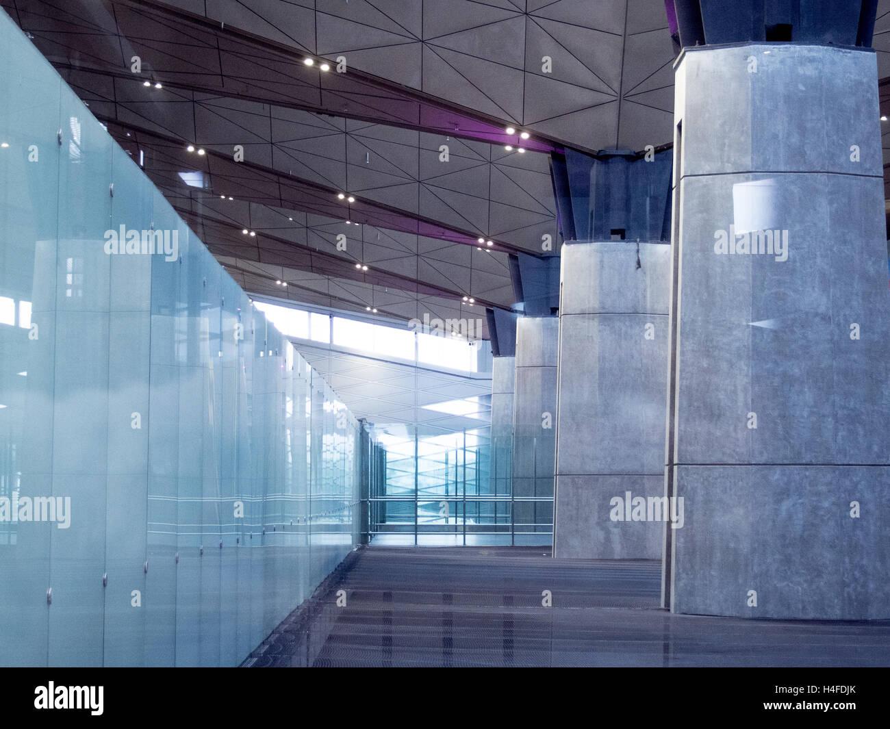 Beton In Interieur : Office building lobby oder flughafen hintergrund modernes