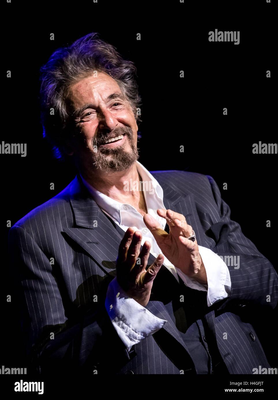 Las Vegas, NV, USA. 15. Oktober 2016. Haus Abdeckung *** ein Abend mit Al Pacino in der Opaline Theater The Venetian Stockbild