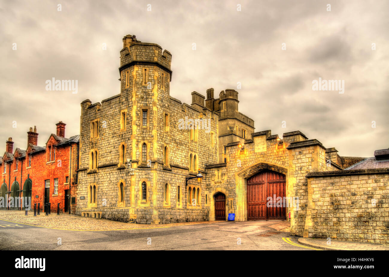 Tor von Schloss Windsor - England, Großbritannien Stockbild