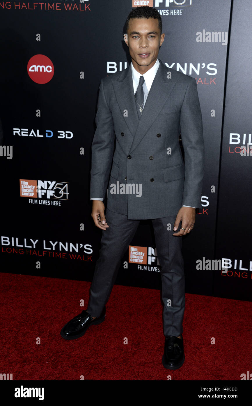 "New York City. 14. Oktober 2016. Ismael Cruz Cordova besucht die ""Billy Lynn lange Halbzeit Walk"" Premiere Stockbild"