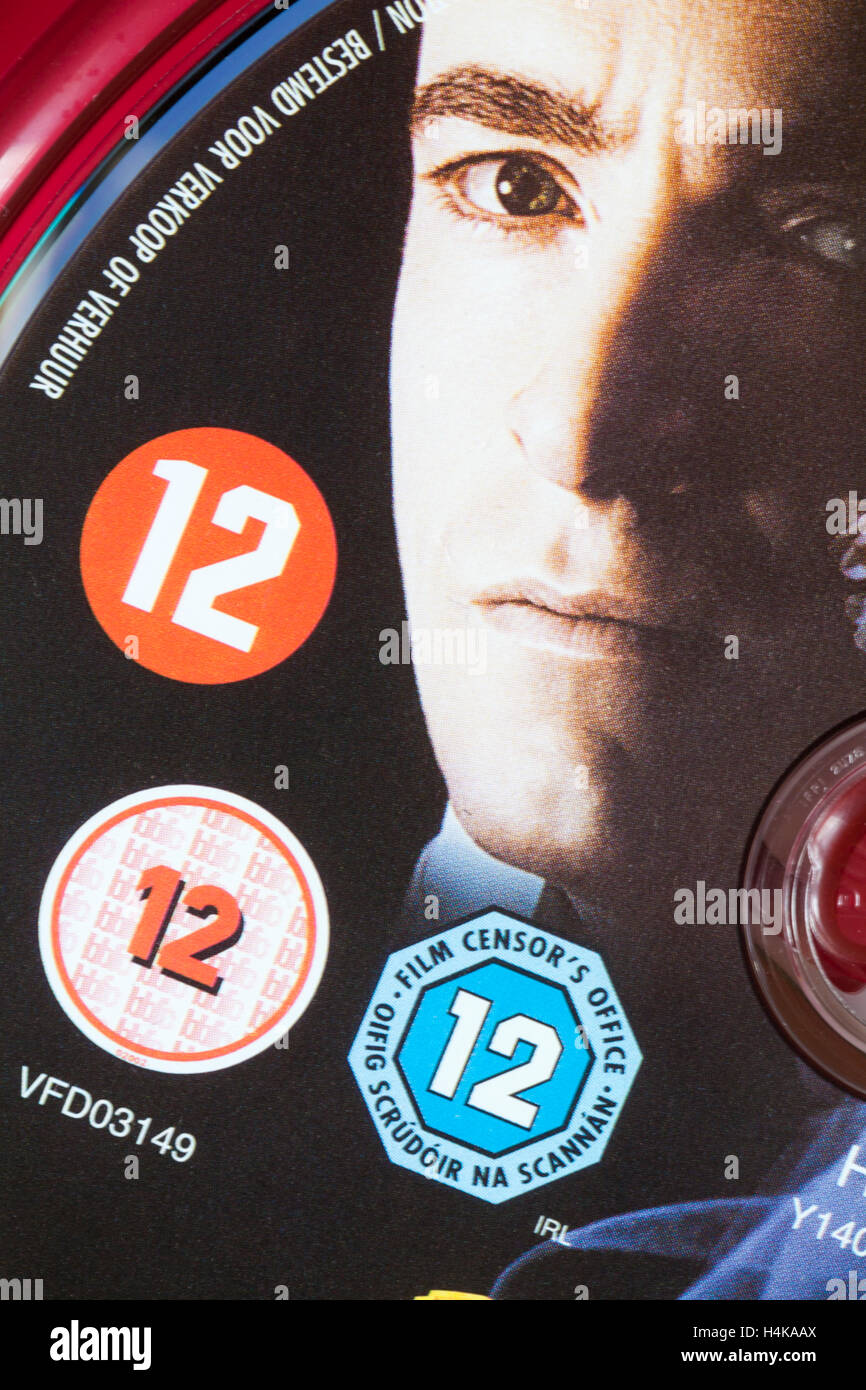 12 Bewertung auf der prestige-HD-DVD-Disc im Fall film Zensur ...