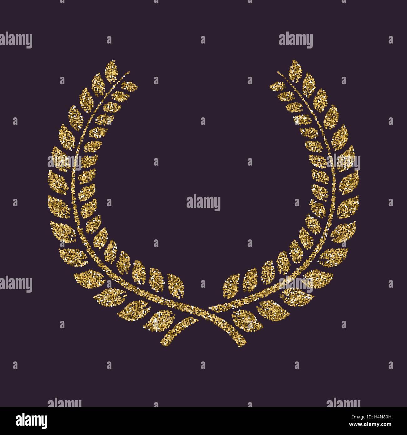 Vector Gold Laurel Wreath Leaves Stockfotos & Vector Gold Laurel ...