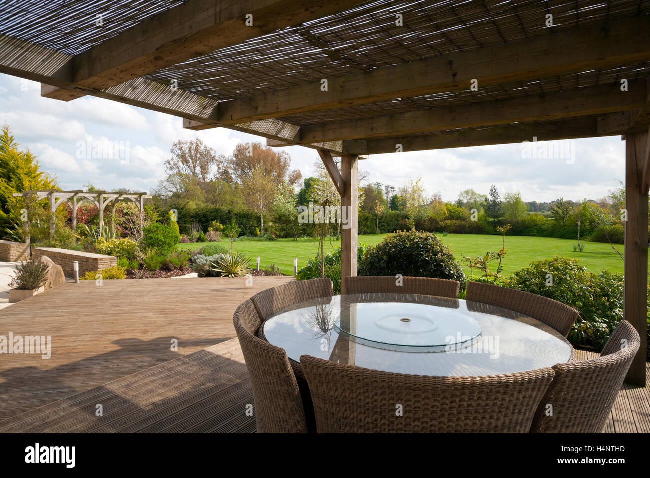 Eine Moderne Garten Sitzecke Und Terrasse