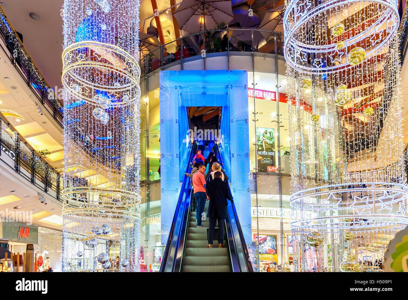 czech republic prague shopping mall stockfotos czech. Black Bedroom Furniture Sets. Home Design Ideas