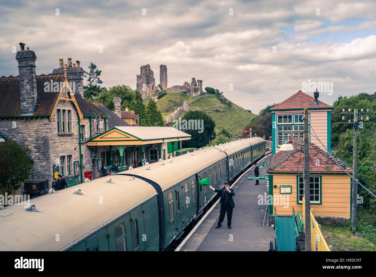 CORFE CASTLE Stockbild