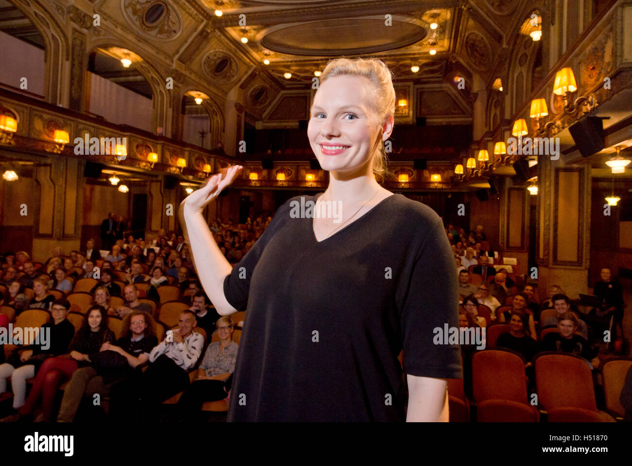 Prag, Tschechische Republik. 19. Oktober 2016. Das Filmfest Festival der Deutsch sprechende Filme beginnt mit Vorführungen Stockbild