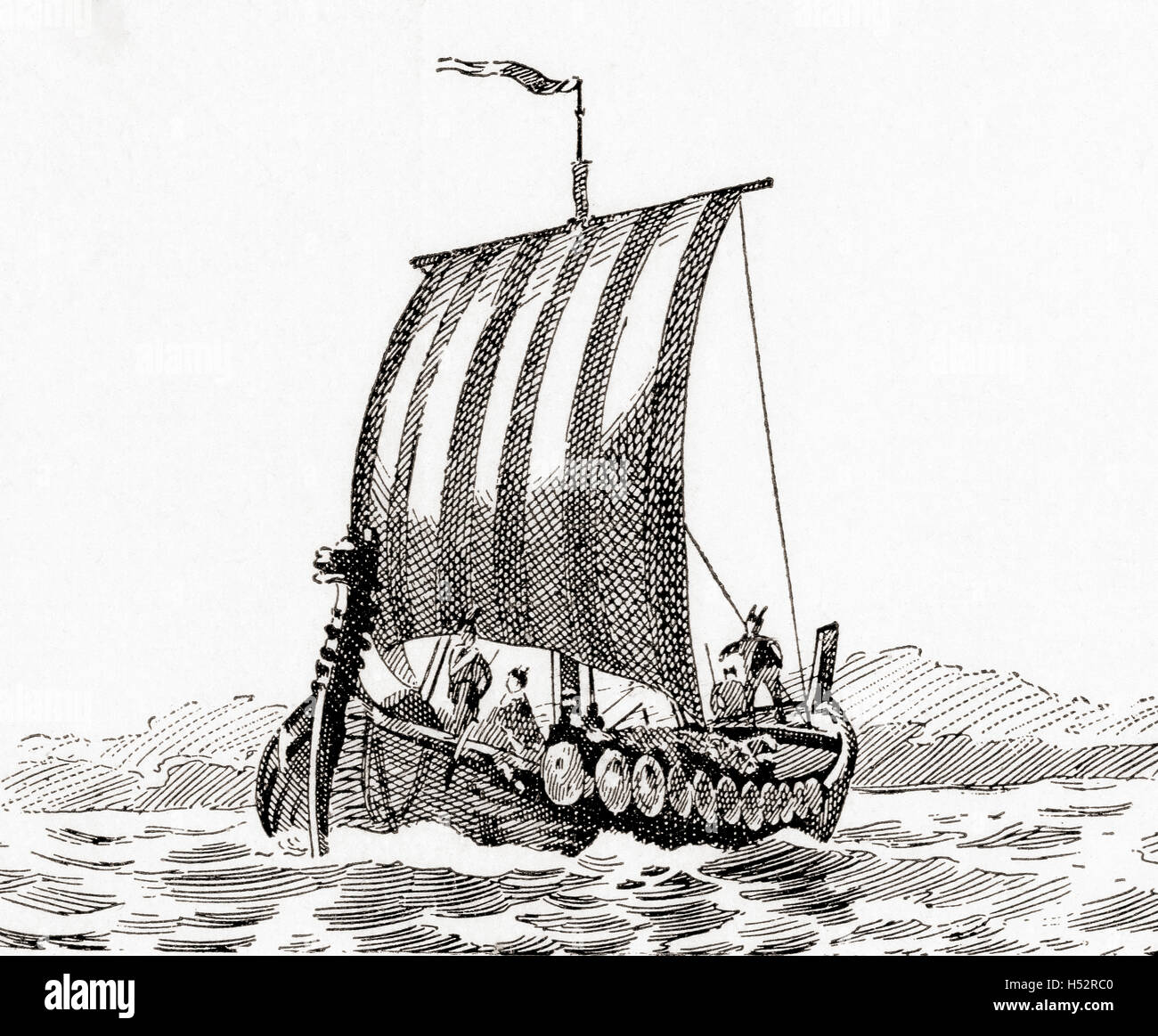 Ein Schiff, Norman. Stockfoto