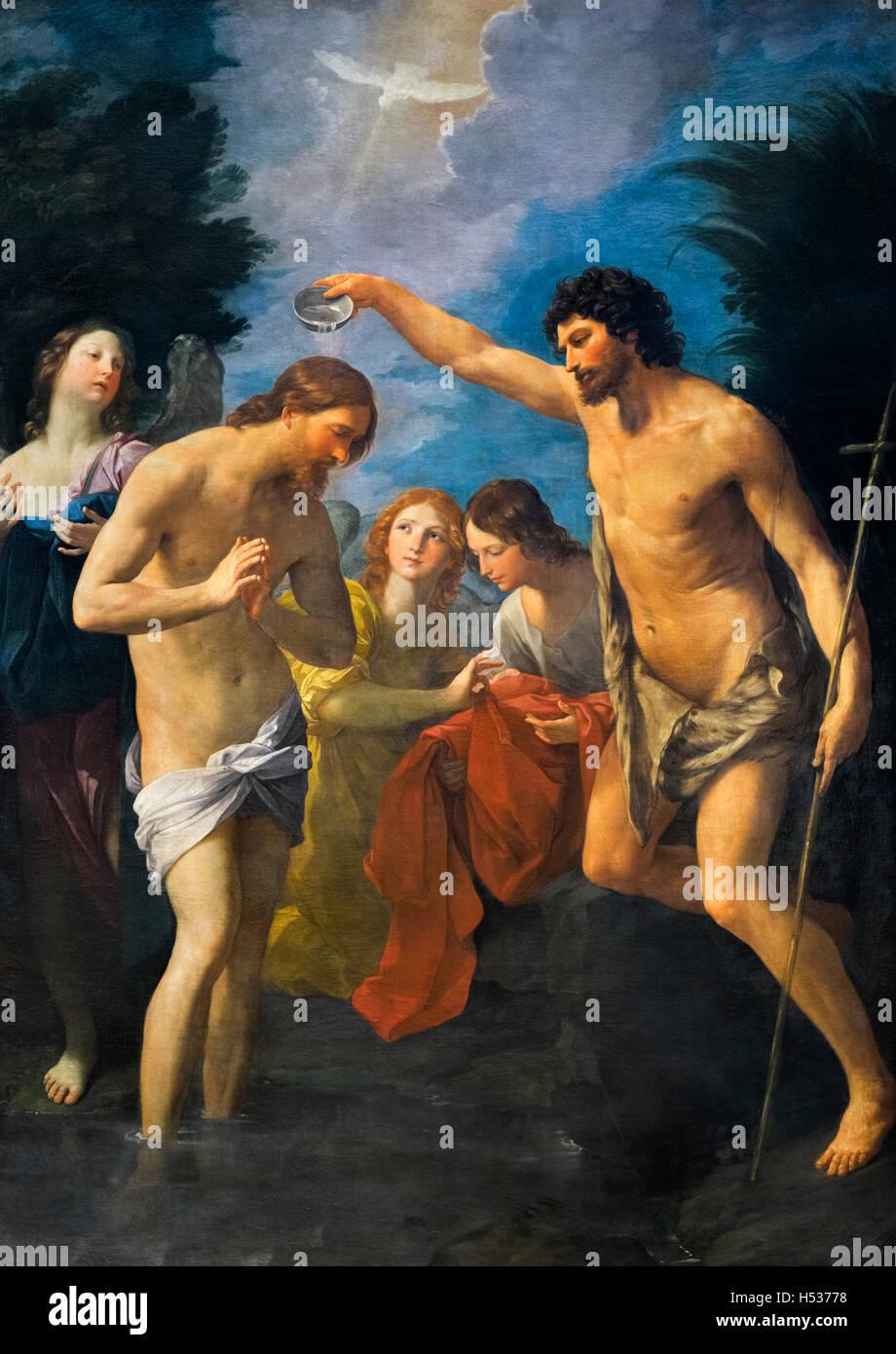 Die Taufe Jesu von Guido Reni (1575-1642), c.1622/3 Stockbild