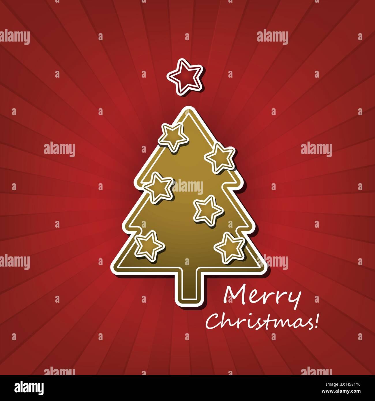 Weihnachtskarte Oder Cover Vorlage Design Mit Geschmückter
