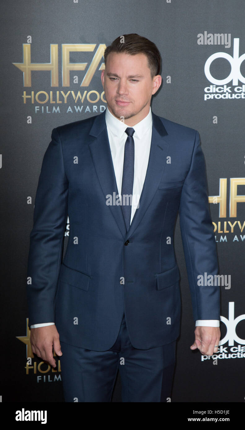 Schauspieler Channing Tatum besucht 19. Annual Hollywood Film Awards im Beverly Hilton Hotel am 1. November 2015 Stockbild